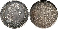 60 Shilling Kingdom of Scotland (843-1707) Silver James II (1633-1701)