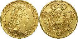 6400 Reis Brasilien Gold Johann V. von Portugal (1689-1750)
