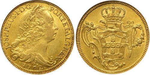 6400 Reis Brasilien Gold Joseph I of Portugal (1714-1777)