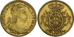 6400 Reis Brazil Gold John VI of Portugal (1767-1826)