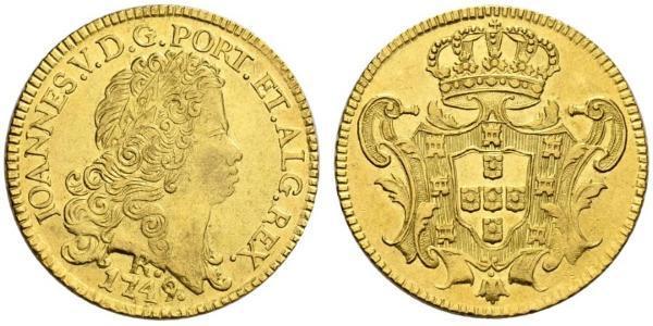 6400 Reis Brazil Gold John V of Portugal (1689-1750)