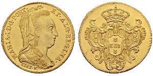 6400 Reis Brazil / Kingdom of Portugal (1139-1910) Gold Maria I of Portugal (1734-1816)
