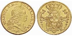 6400 Reis Kingdom of Portugal (1139-1910) Gold John V of Portugal (1689-1750)