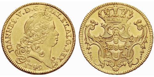 6400 Reis Kingdom of Portugal (1139-1910) Gold John V of Portugal (1689-1750)