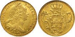 6400 Reis Brasil Oro Joseph I of Portugal (1714-1777)