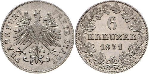 6 Крейцер Німеччина Срібло