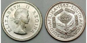 6 Пені Південно-Африканська Республіка Срібло Єлизавета II (1926-)