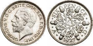6 Пені / 1 Шестипенсовик Велика Британія (1922-) Срібло Георг V (1865-1936)
