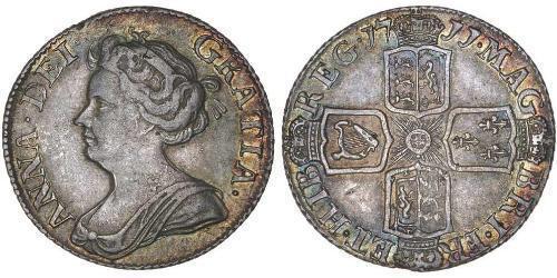 6 Пені / 1 Шестипенсовик Королівство Великобританія (1707-1801) Срібло Анна Стюарт(1665-1714)