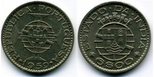6 Escudo Portuguese India (1510-1961) Copper/Nickel