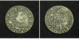 6 Grosh République des Deux Nations (1569-1795) Argent Sigismund III