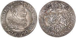 6 Grosh Confederazione Polacco-Lituana (1569-1795) Argento Sigismund III