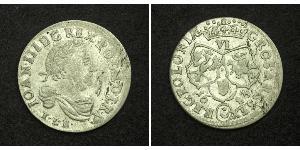 6 Grosh Confederazione Polacco-Lituana (1569-1795) Argento Giovanni III di Polonia (1629-1696)