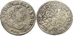 6 Grosh Polen-Litauen (1569-1795) Silber Johann III. Sobieski (1629-1696)