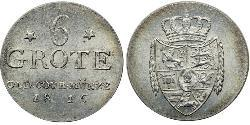 6 Grote States of Germany Silver Peter Friedrich Wilhelm (1754 - 1823)