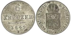 6 Kreuzer 奧地利帝國 (1804 - 1867) 銀