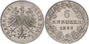 6 Kreuzer 德国 銀