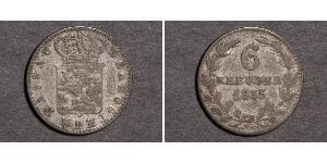 6 Kreuzer 联邦州 (德国) / 拿骚公国 (1806 - 1866) 銀 阿道夫 (卢森堡大公)