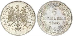 6 Kreuzer Germania Argento