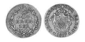 6 Kreuzer Grand Duchy of Baden (1806-1918) Argento