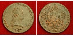 6 Kreuzer Heiliges Römisches Reich (962-1806) Kupfer Francis II, Holy Roman Emperor (1768 - 1835)