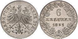 6 Kreuzer Deutschland Silber