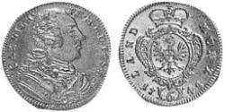 6 Kreuzer Fürstentum Ansbach (1398–1792) Silber Karl Wilhelm Friedrich (Brandenburg-Ansbach)(1712 – 1757)