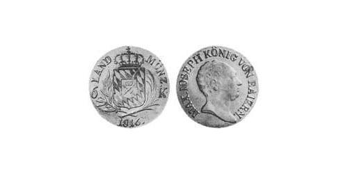 6 Kreuzer Königreich Bayern (1806 - 1918) Silber