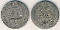 6 Kreuzer Königreich Württemberg (1806-1918) Silber