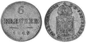 6 Kreuzer Kaisertum Österreich (1804-1867) Silber