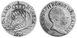6 Kreuzer Kingdom of Bavaria (1806 - 1918) Silver