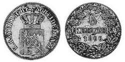 6 Kreuzer Kingdom of Bavaria (1806 - 1918) Silver Ludwig II of Bavaria (1845 – 1886)