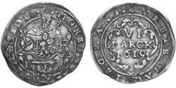 6 Marck Free Imperial City of Aachen (1306 - 1801) Silver