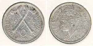 6 Penny 南羅德西亞 銀 乔治六世 (1895-1952)