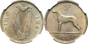 6 Penny 爱尔兰共和国 銅/镍