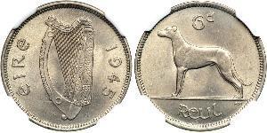 6 Penny Ireland (1922 - ) Copper/Nickel