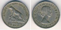 6 Penny Rhodesia (1965 - 1979) Copper/Nickel
