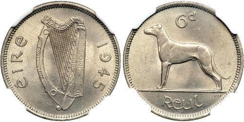 6 Penny Irland (1922 - ) Kupfer/Nickel