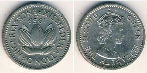 6 Penny Nigeria Kupfer/Nickel