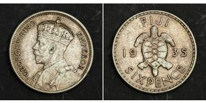 6 Penny Fiji Silver George V of the United Kingdom (1865-1936)