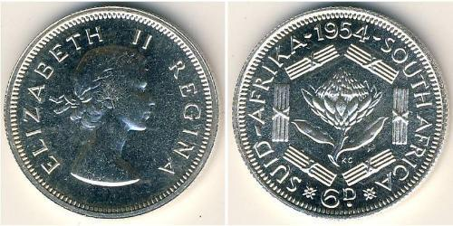 6 Penny South Africa Silver