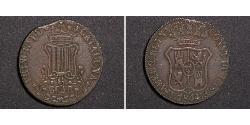 6 Quarto Kingdom of Spain (1814 - 1873) Copper