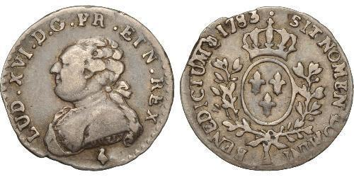 6 Sol Kingdom of France (843-1791) Silver Louis XVI of France (1754 - 1793)