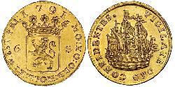 6 Stiver Dutch Republic (1581 - 1795) Gold