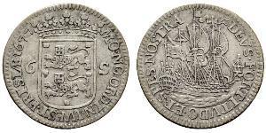 6 Stuiver Республика Соединённых провинций (1581 - 1795) Серебро