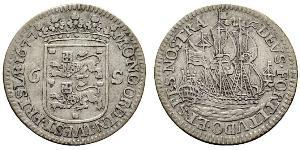 6 Stuiver 荷蘭共和國 (1581 - 1795) 銀