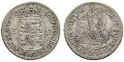 6 Stuiver Provincias Unidas de los Países Bajos (1581 - 1795) Plata