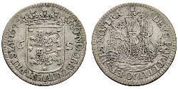 6 Stuiver Republik der Sieben Vereinigten Provinzen (1581 - 1795) Silber