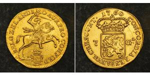 7 Гульден Республика Соединённых провинций (1581 - 1795) Золото