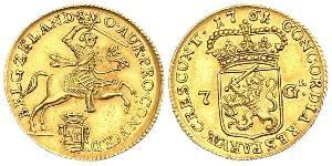 7 Gulden Dutch Republic (1581 - 1795) Gold